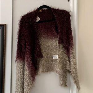 Ruby and Jenna fuzzy ombré knit sweater